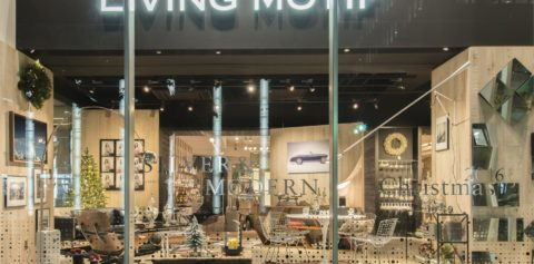 「Living Motif Christmas display 2016 SILVER&MODERN」